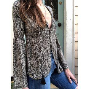 Winter Kate silk blouse size XS